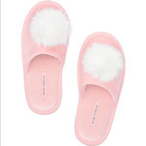 Victoria's Secret Pom Pom Slipper - Pink & White